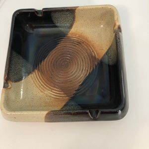 Pottery Craft Ashtray Made In USA Vintage